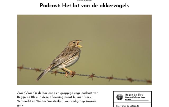 EOS-magazine en de Akkervogels