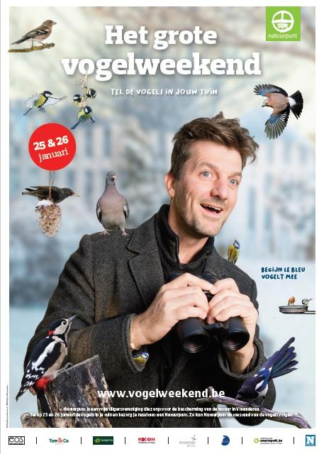 Begijn Le Bleu vogelt mee tijdens het vogelweekend van Natuurpunt op 25 en 26 januari!